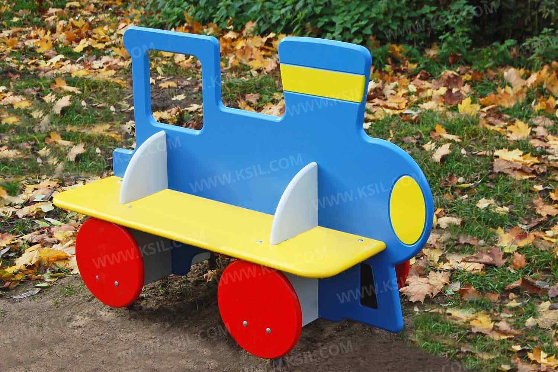 Идеи для детской площадки: детский паровозик 91